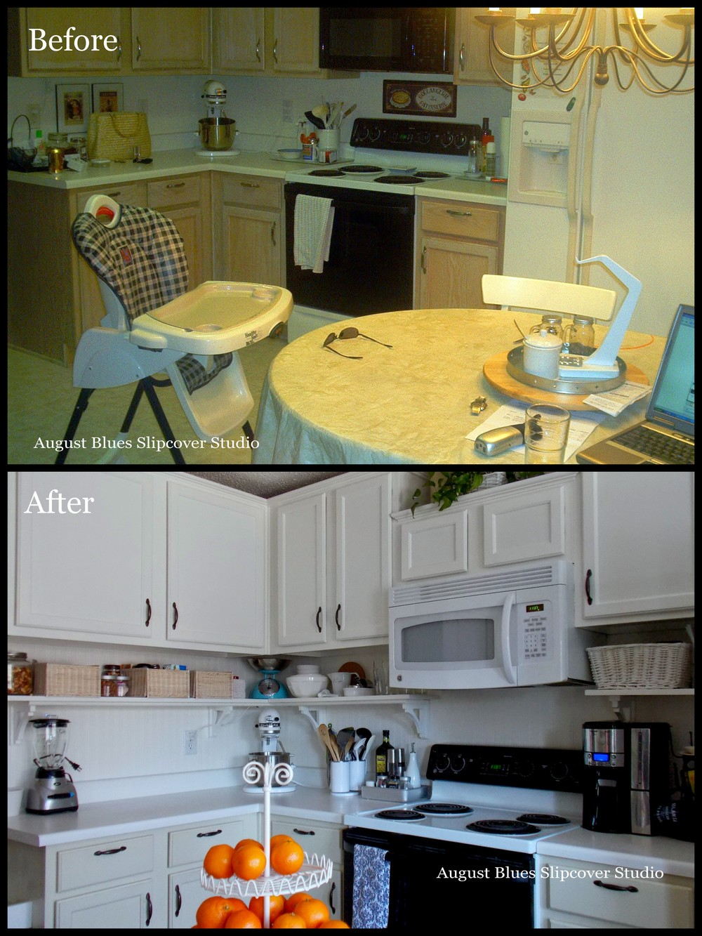 August Blues - Kitchen Before and After2