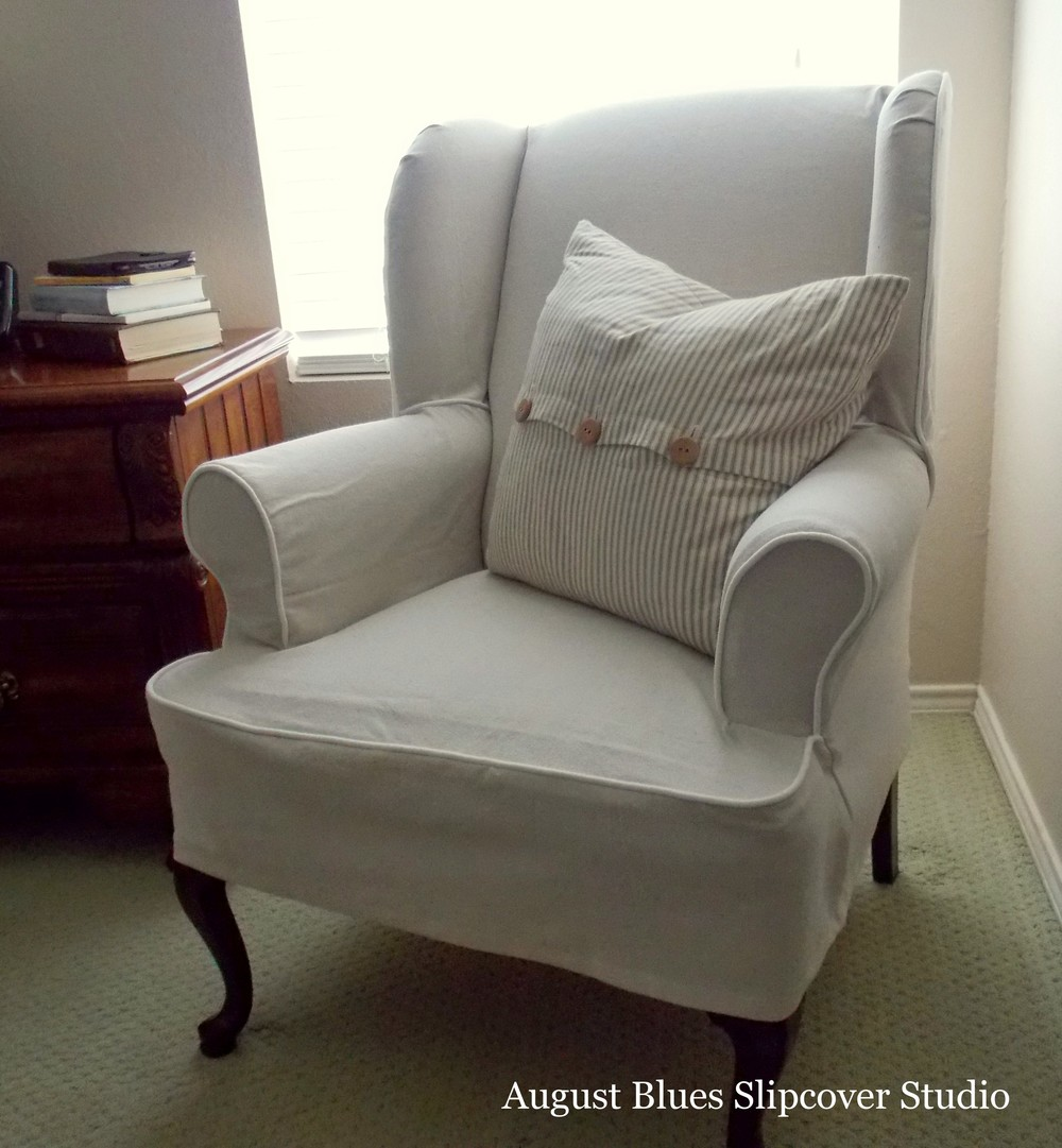 August Blues - Dropcloth Slipcover After2