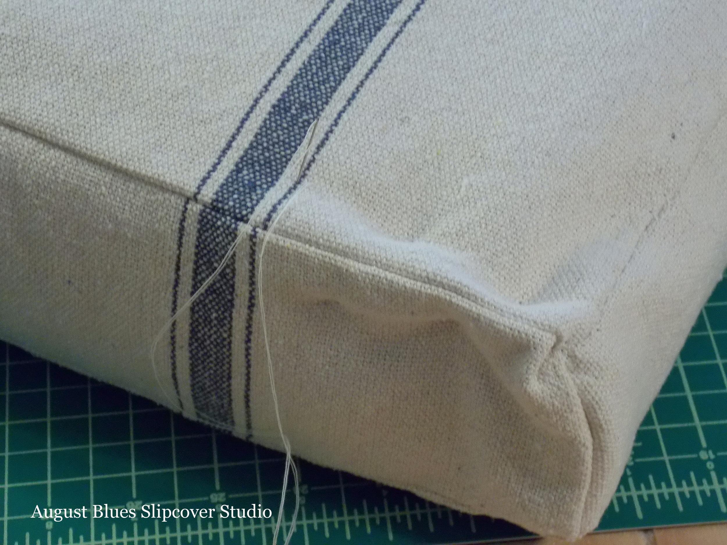French Mattress Cushion Tutorial August Blues