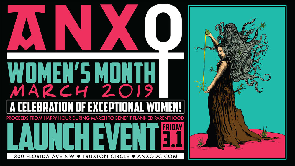 "WOMEN'S MONTH LAUNCH PARTY    FRIDAY, MARCH 1 5PM-11PM   All March we'll exclusively pour  ciders, wines, beers & cocktails from female owned/operated businesses.  Our collaborations  ""Nevertheless, We Persisted"" Dry Cider  (Eden Specialty Ciders) and  ""Never Doubt"" Brut IPA (Denizens Brewing Co) will debut on draft at the launch and proceeds from happy hour will be donated to our local Planned Parenthood chapter!"