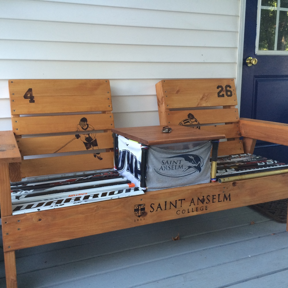 Two Person Bench with Cooler and Table