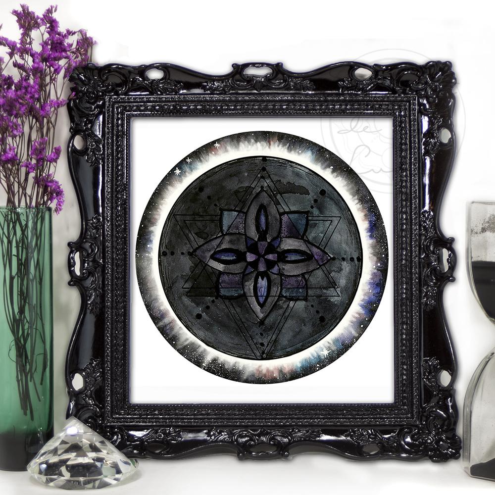 Lunar Eclipse Mandala | Spirit de la Lune
