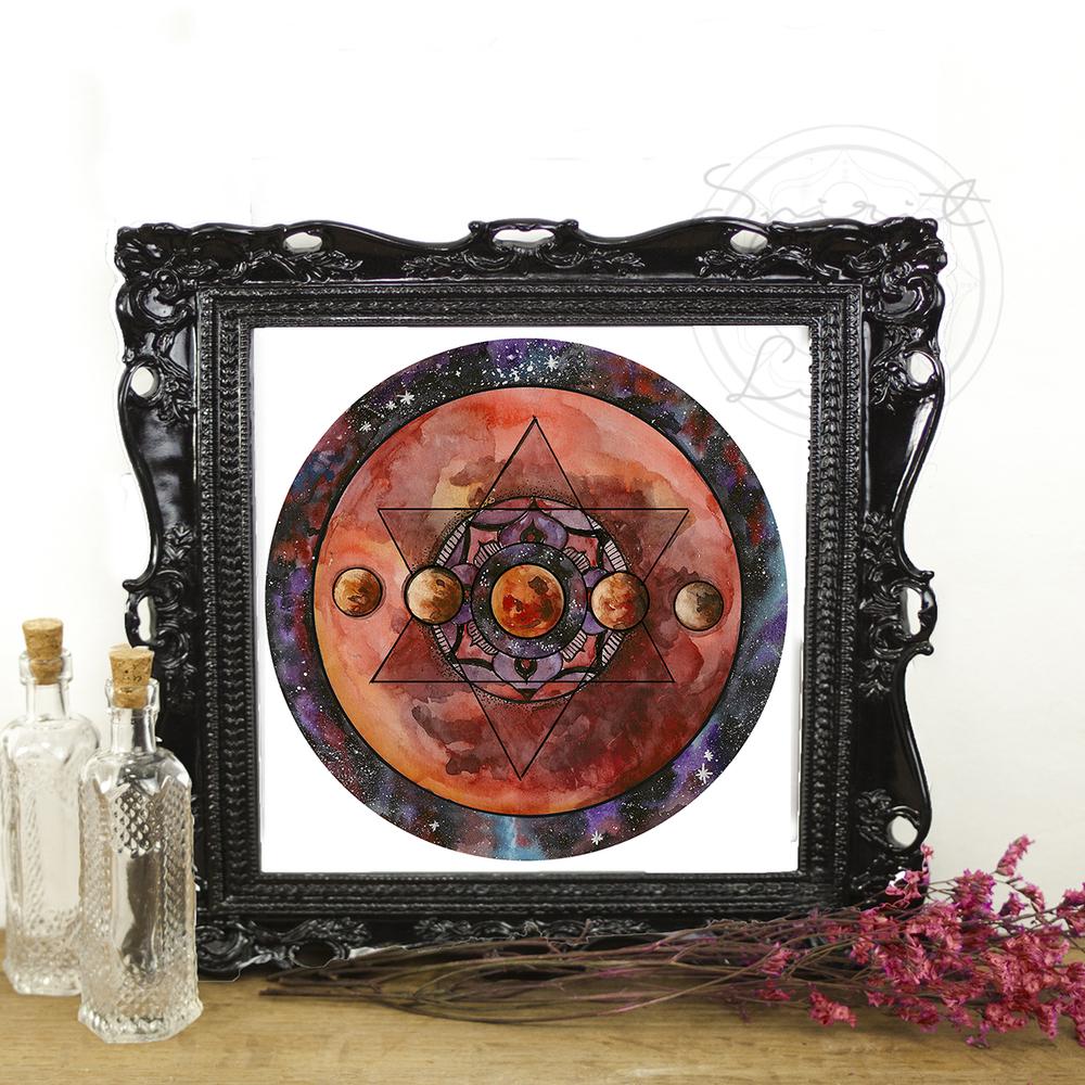 Lunar Eclipse Mandala