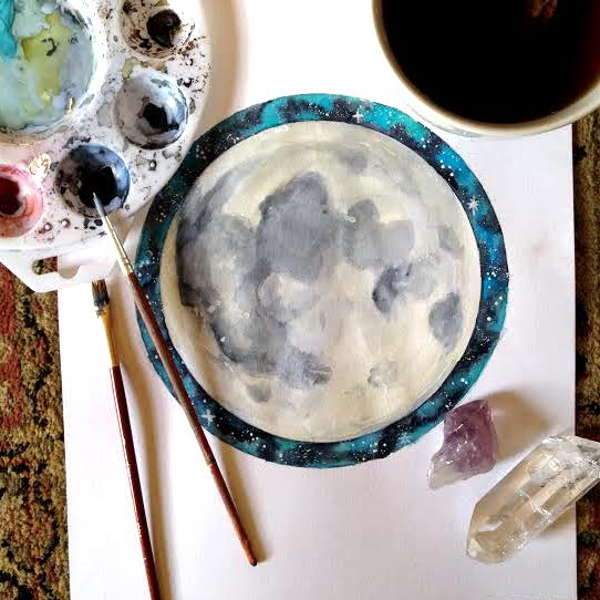 Full Moon Painting Spirit de la Lune
