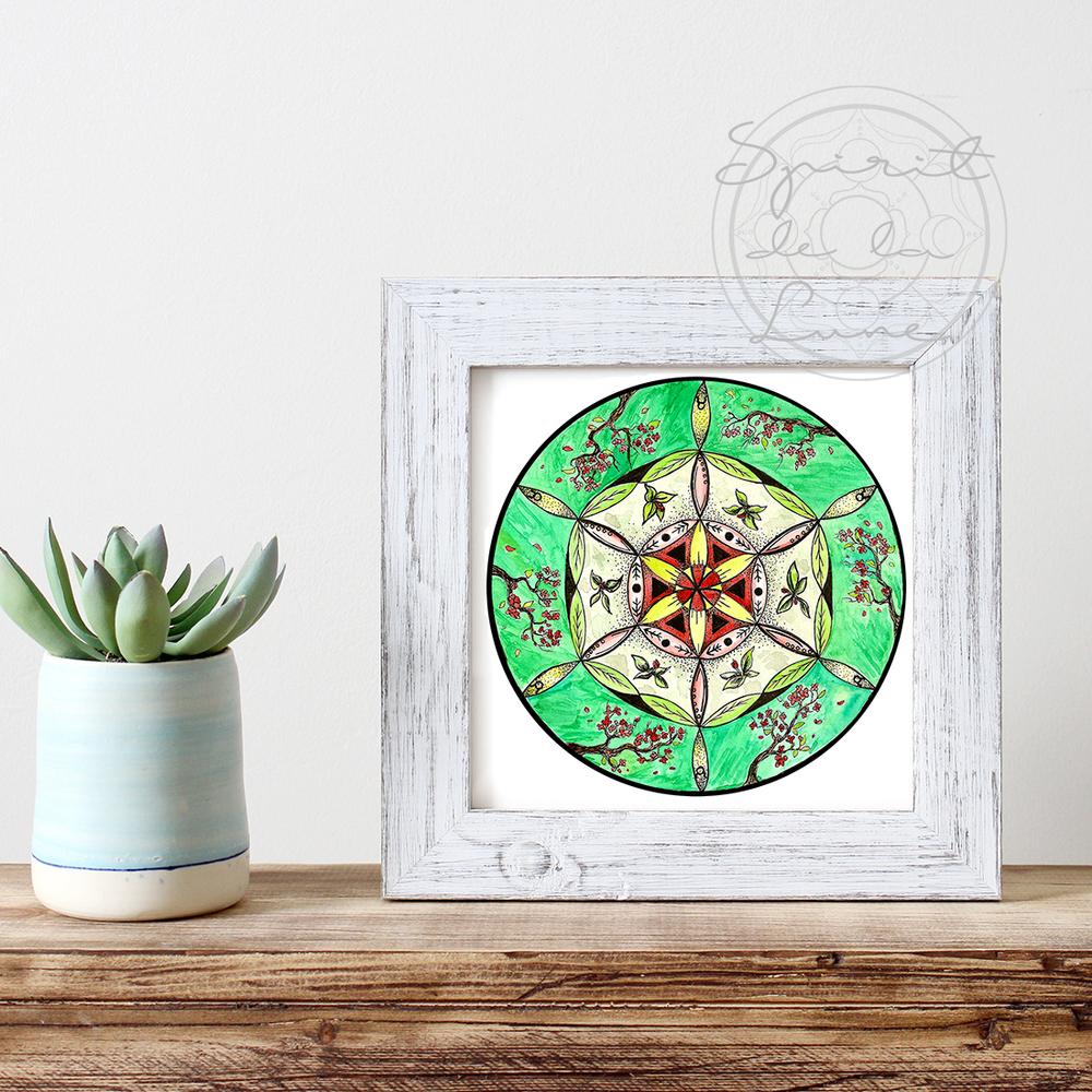 Planting Moon Mandala Print