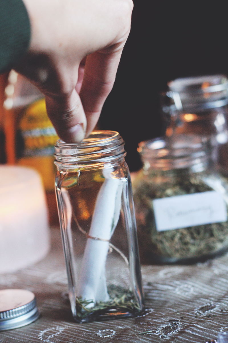 Adding Herbs and Offerings | Spirit de la Lune