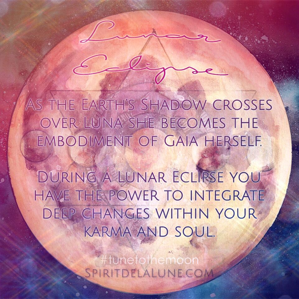 Lunar Eclipse Quote | Spirit de la Lune