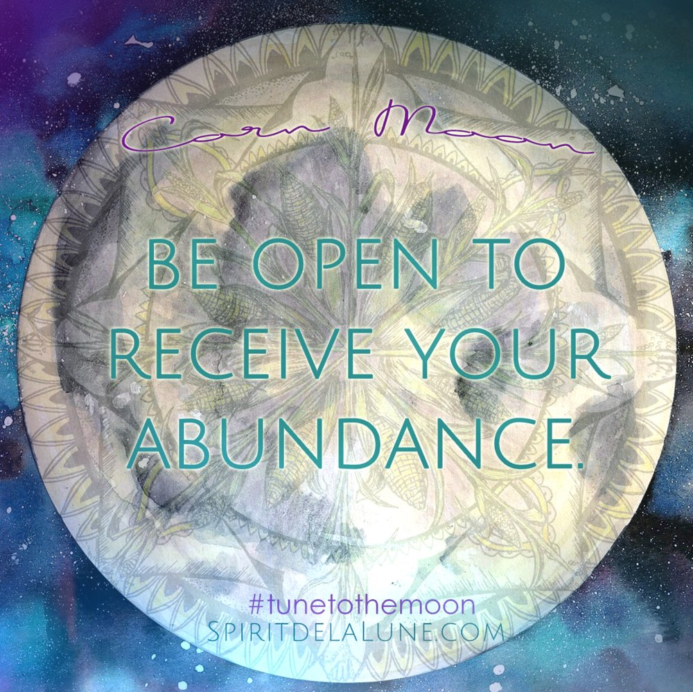 Corn Moon | Abundance Ceremony | Spirit de la Lune