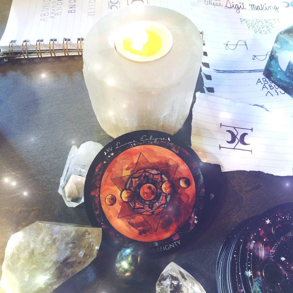 Lunar Eclipse Sigil Ritual | Spirit de la Lune