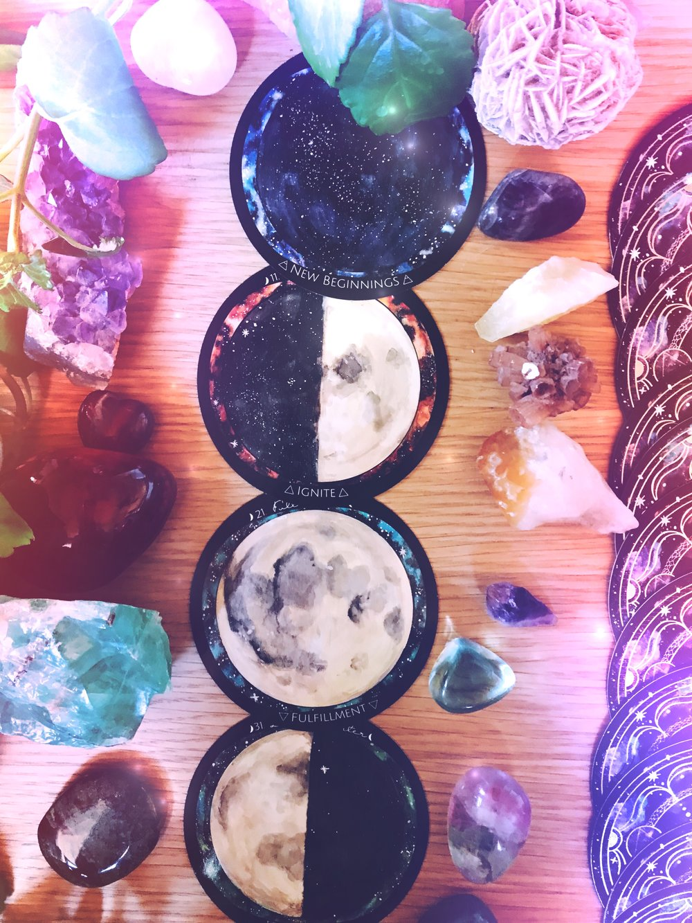 Moon Phase Cards Spirit de la Lune | | Spirit de la Lune New Moon Energy Report May 2018