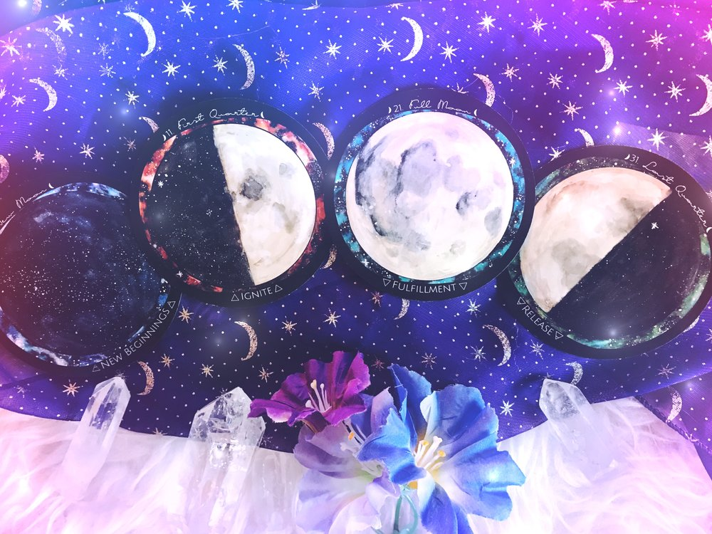 Four Major Moon Cycles Spirit de la Lune | New Moon energy report