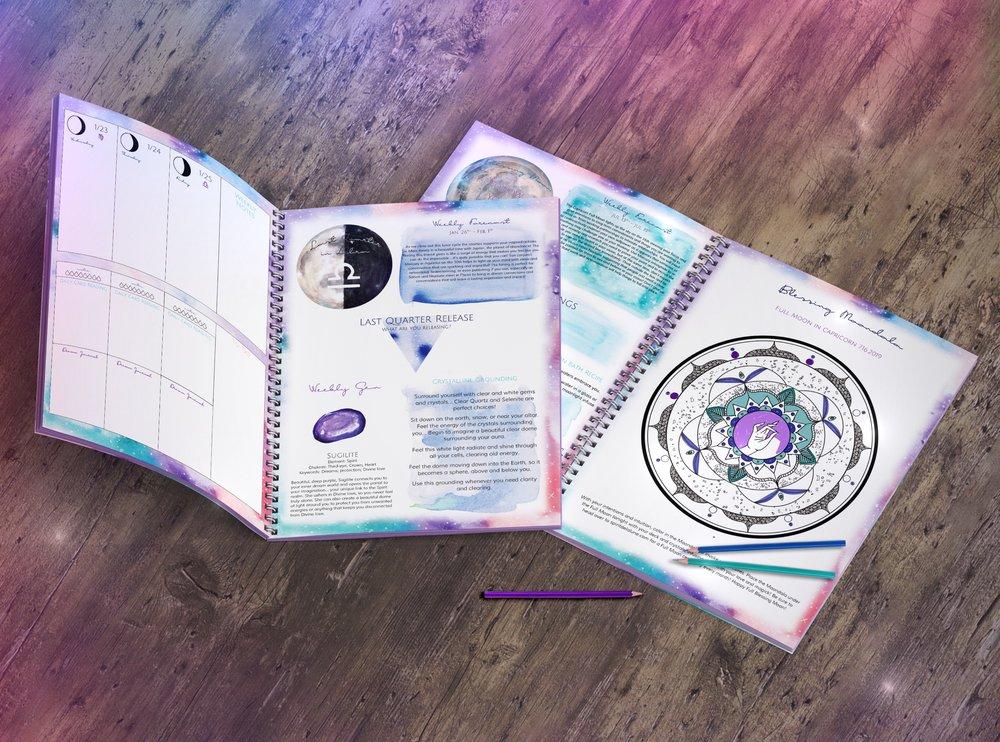 Spirit de la Lune 2019 Planner Mockup Coloring Pages