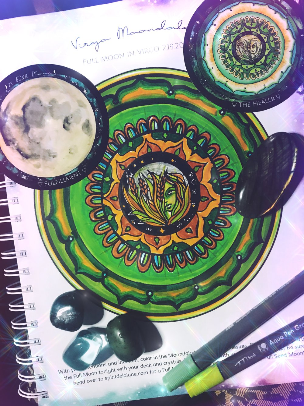 Color in your own mandala each full moon! Click on the link to purchase the planner!