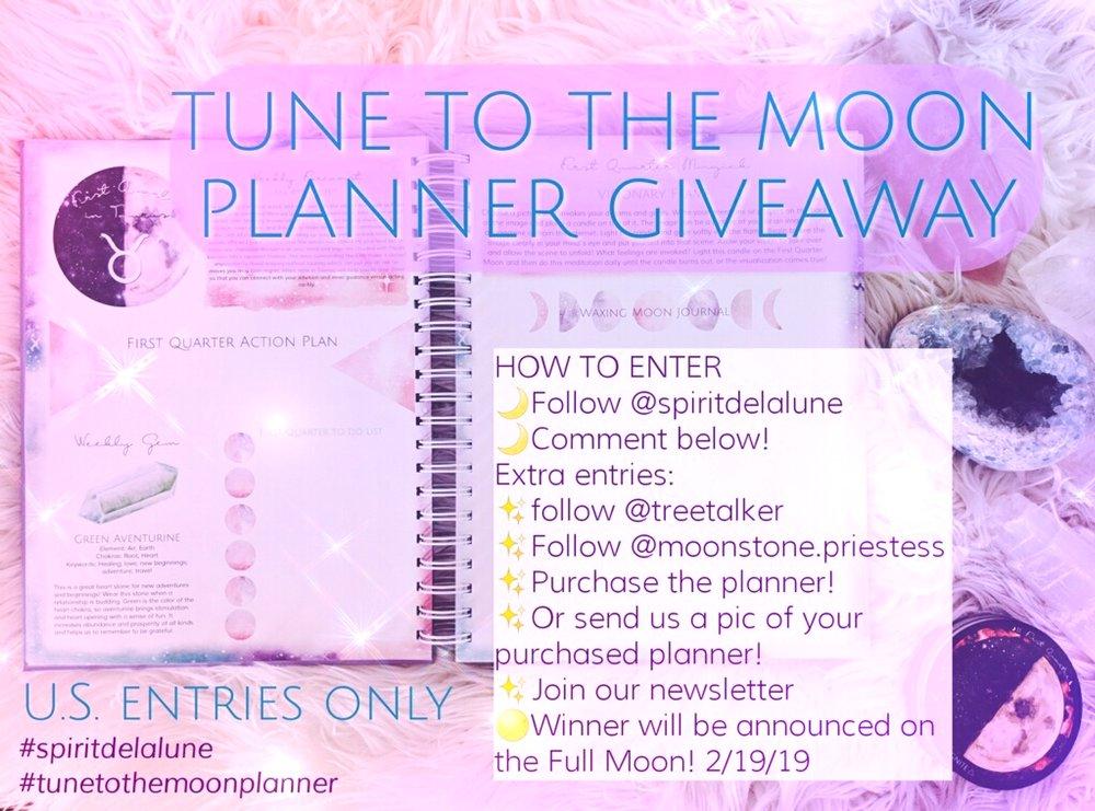 Spirit de la Lune 2019 Planner Giveaway
