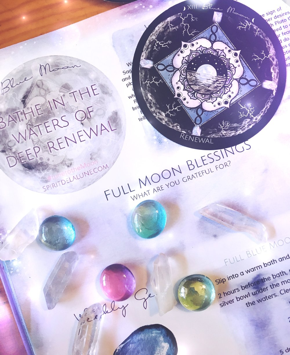 Full Blue Moon Meditation and Shower Ritual for Renewal