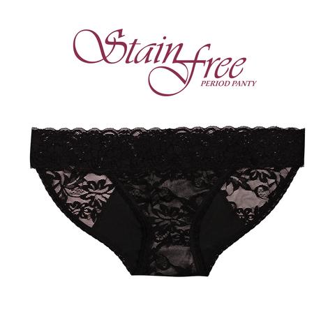 StainFree Panties - Black Lace Bikini — Reusable Cloth Home Goods ... b5cd666b9