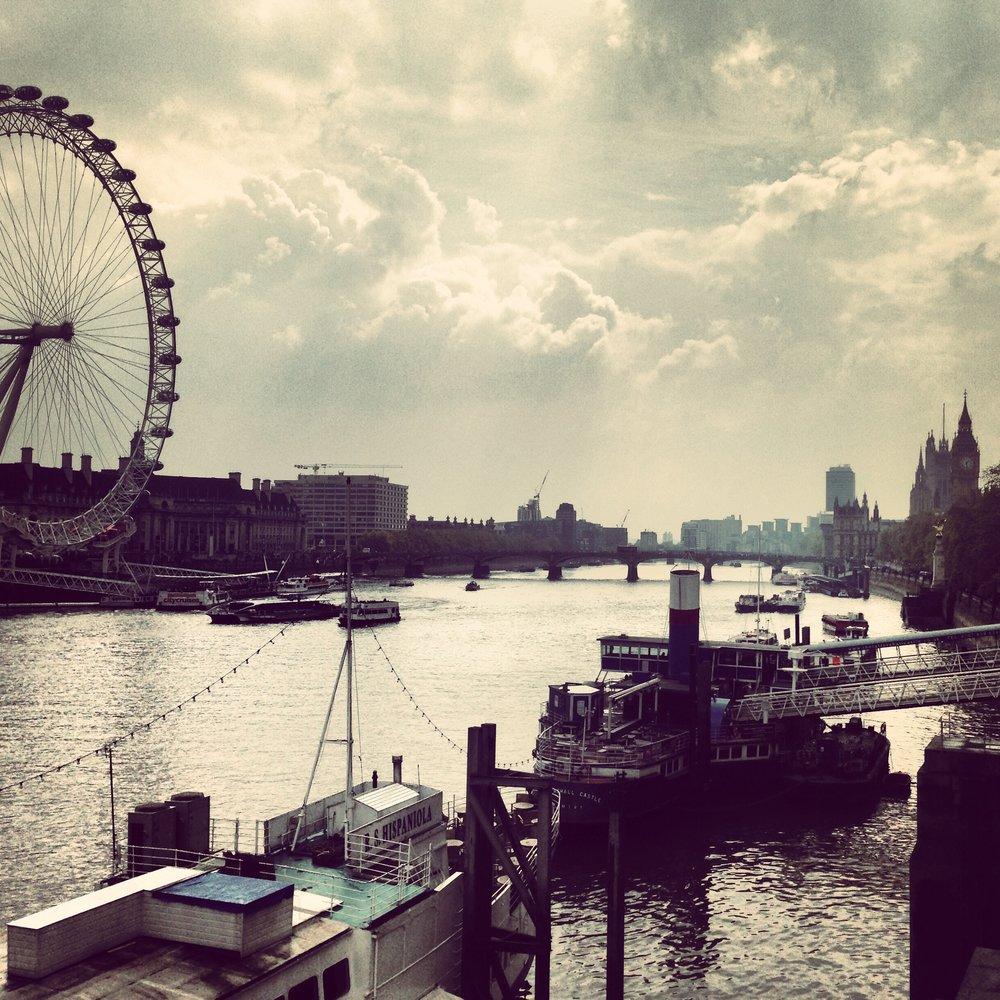 View from Golden Jubilee Bridge.