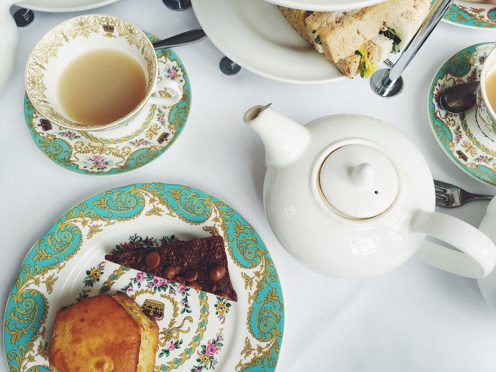 High tea at The Orangery.