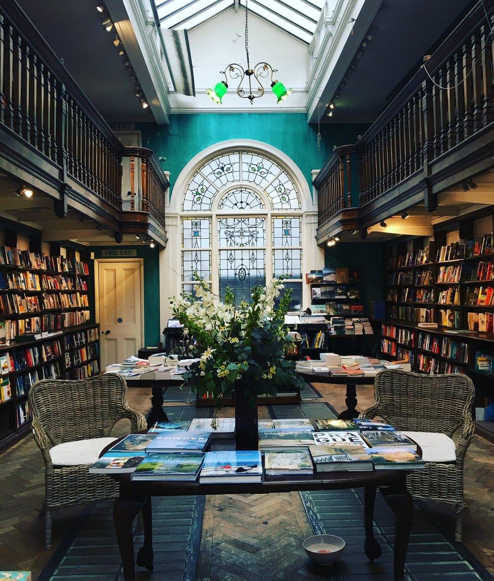 Daunt Books on Marylebone High Street. [Photo by Katie Serena.]