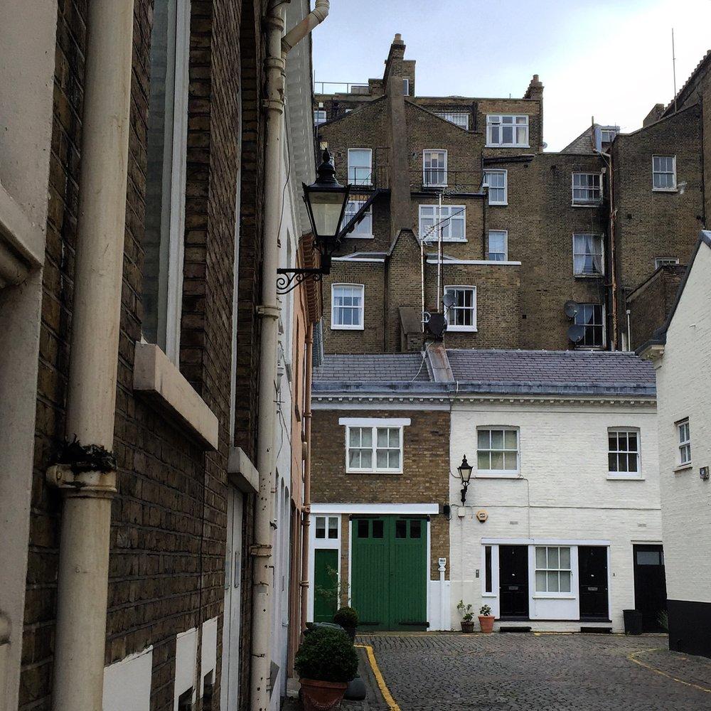 Hidden mews in London.