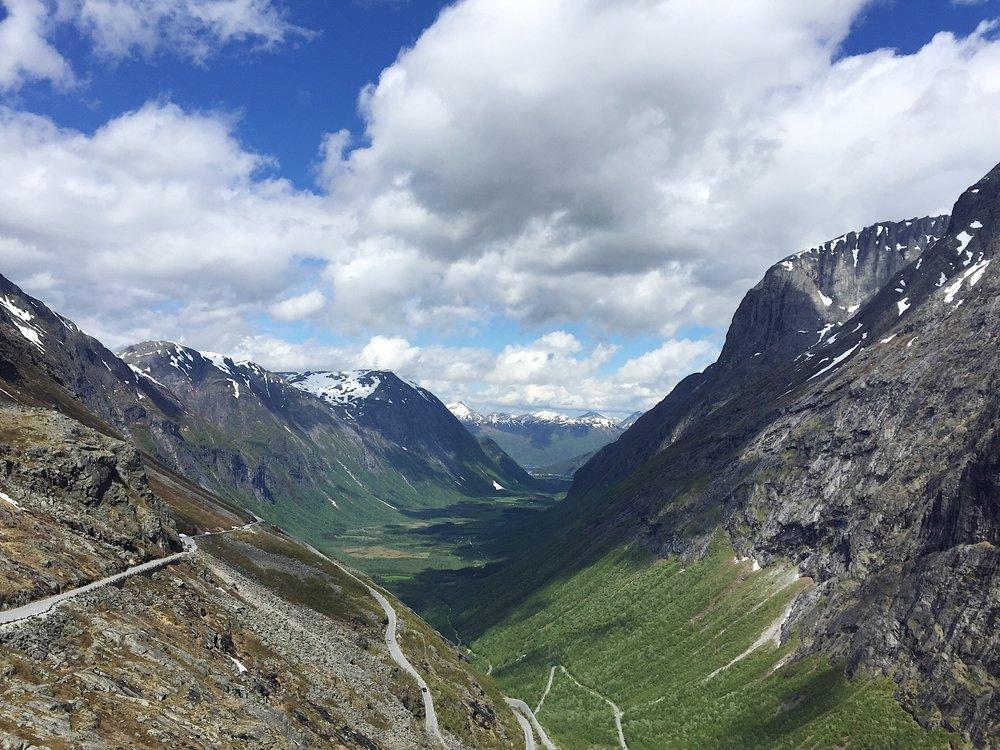 """Trollstigen (""""The Trolls' Path""""), Norway."""