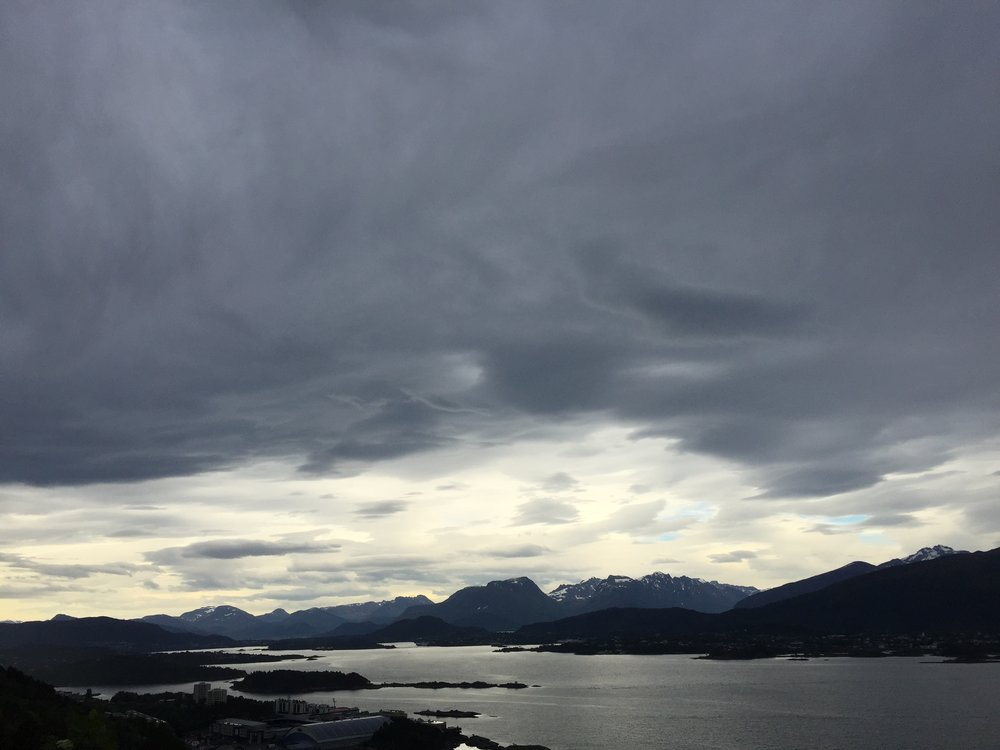 View from Aksla viewpoint, Ålesund, Norway.