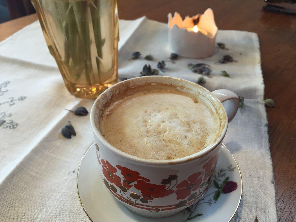 Coffee at Sødahl-Huset, Åndalsnes, Norway.