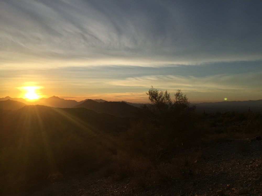 South Mountain Sunset: The Start
