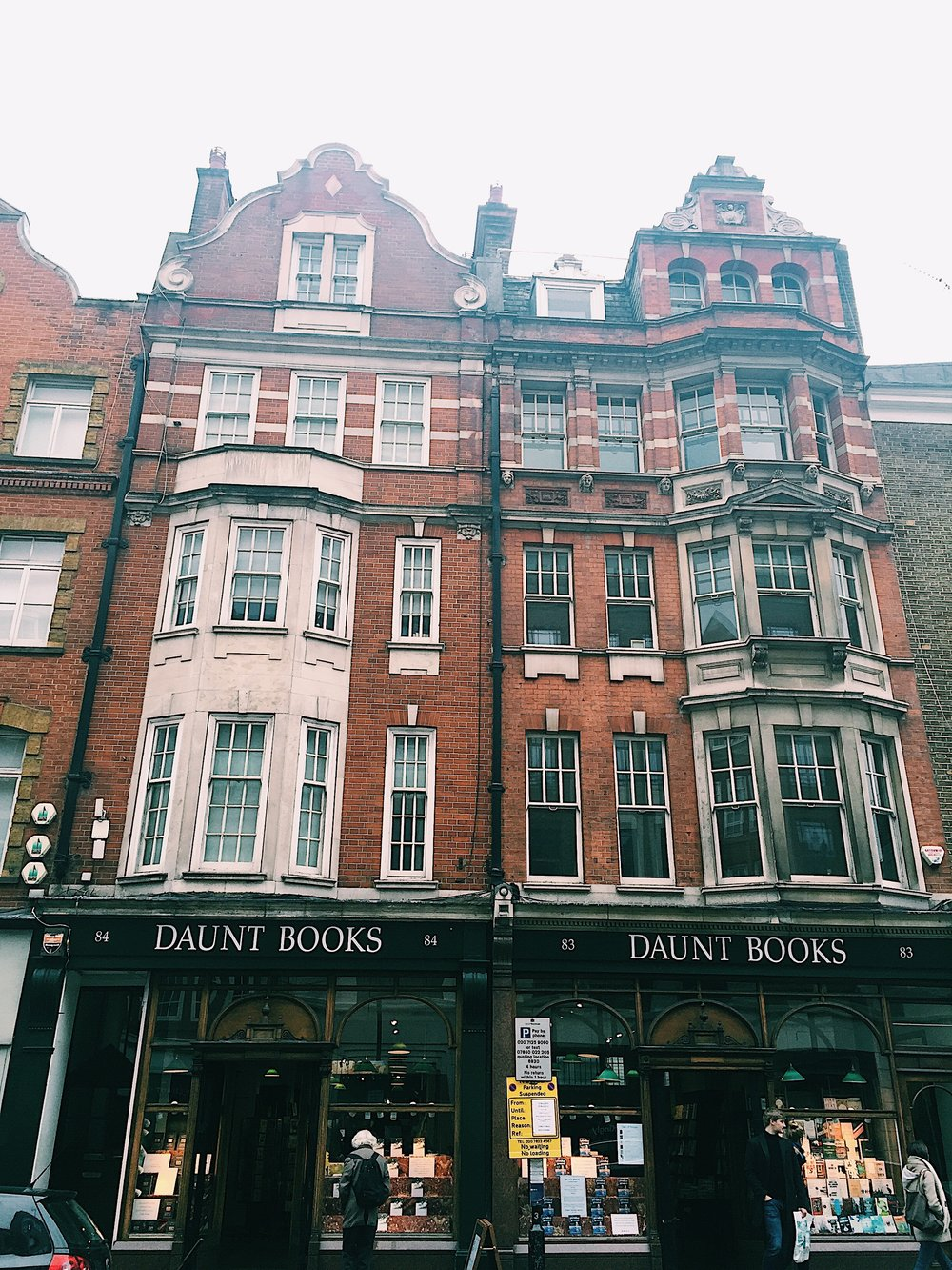 My favorite bookstore in all the land, Daunt Books on Marylebone Street.