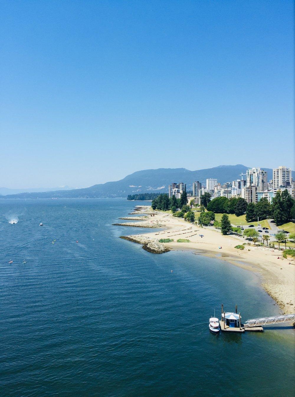 Vancouver skyline from Granville Bridge.
