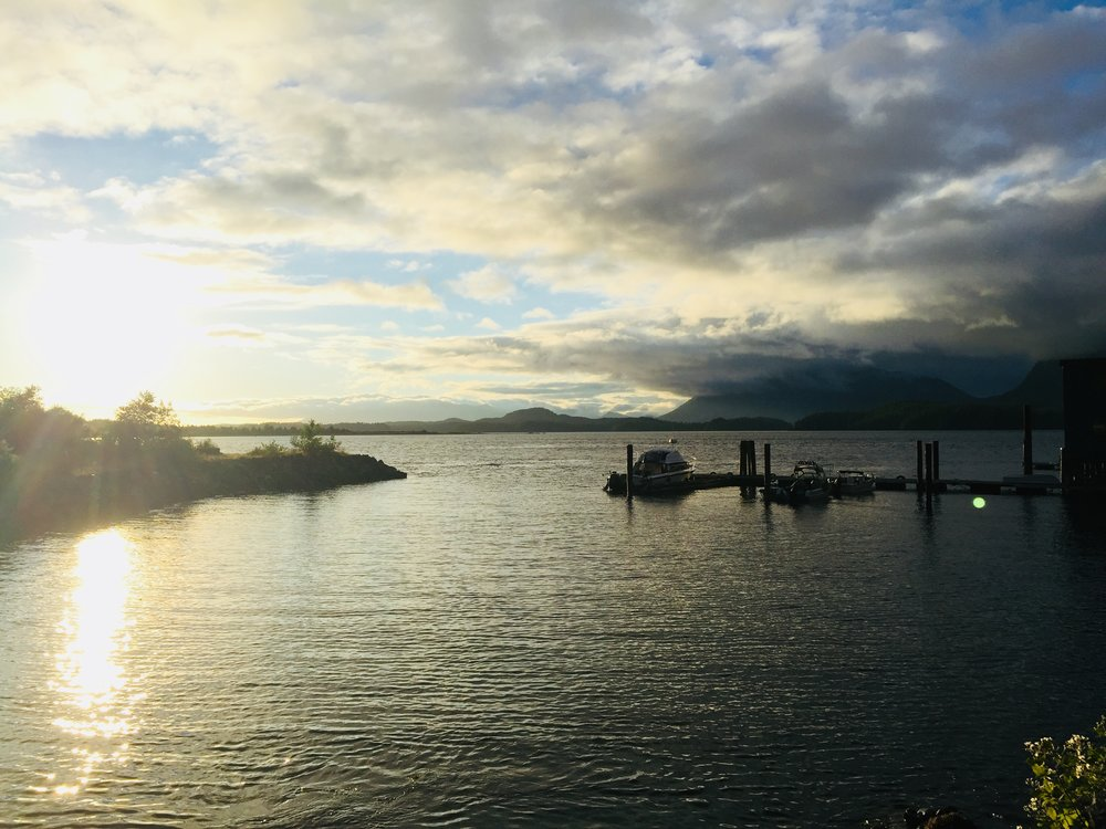 The one touch of sunshine we saw in Tofino.