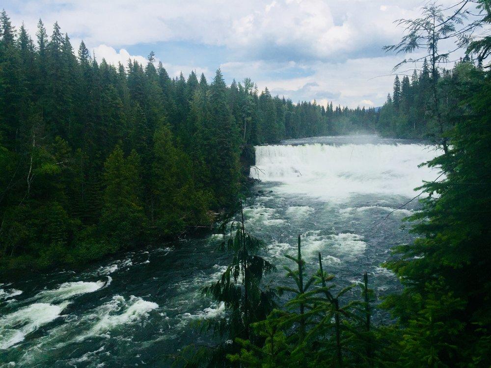 Dawson Falls in Wells Gray Provincial Park