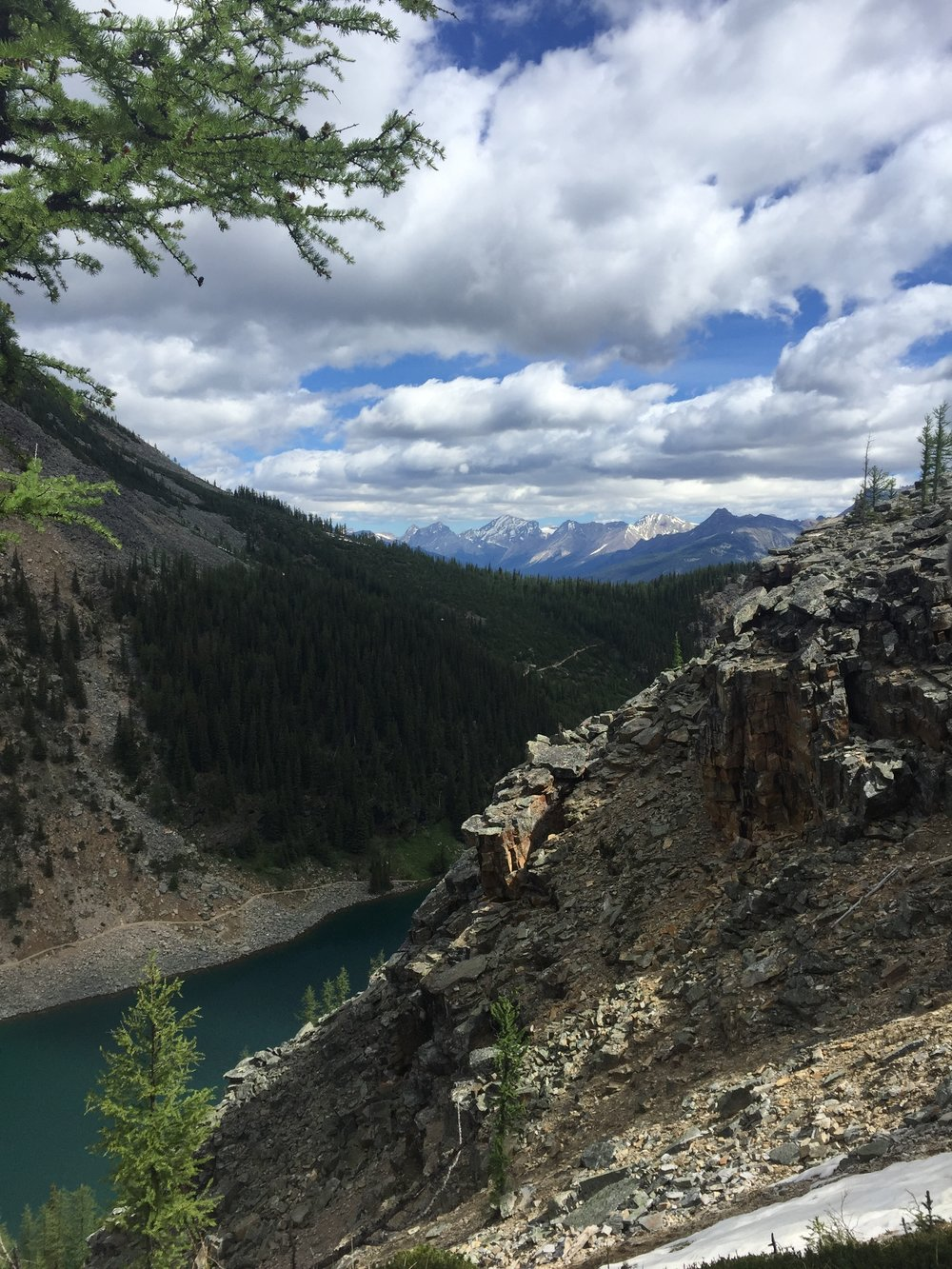 View of Lake Agnes from Beehive Lookout