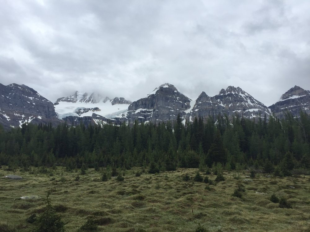 View of the Ten Peaks from Larch Valley