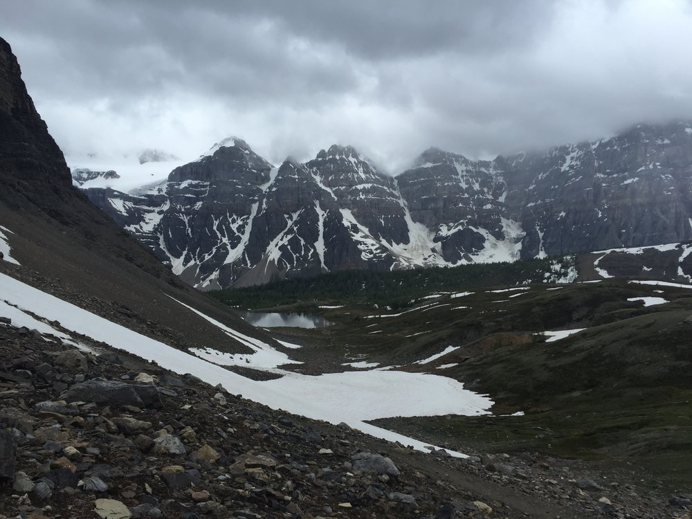 View of Ten Peaks from Sentinel Pass trail