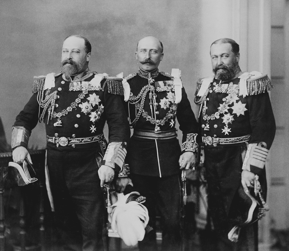 Grand Duke Vladimir's grandfather Prince Alfred, Duke of Edinburgh, with his brothers (the future King Edward VII and the Duke of Connaught) at the Diamond Jubilee of their mother, Queen Victoria