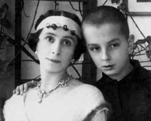 HSH Princess Romanovsky-Krassinsky and her son, Prince Vladimir.