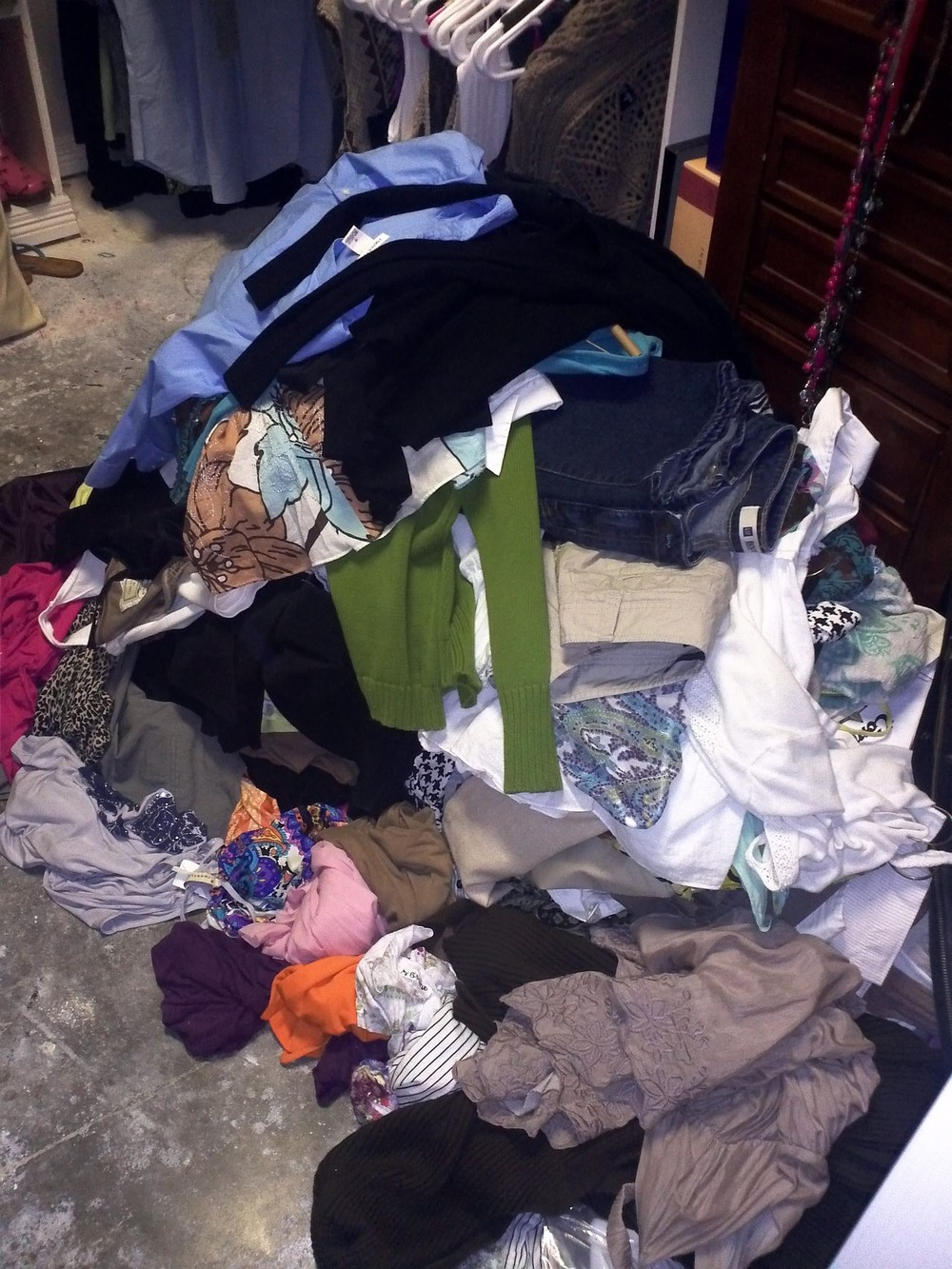 All the clothes my client valiantly tossed out!