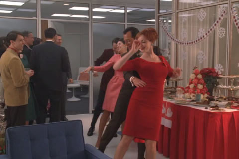 Mad Men Christmas Party Conga Line