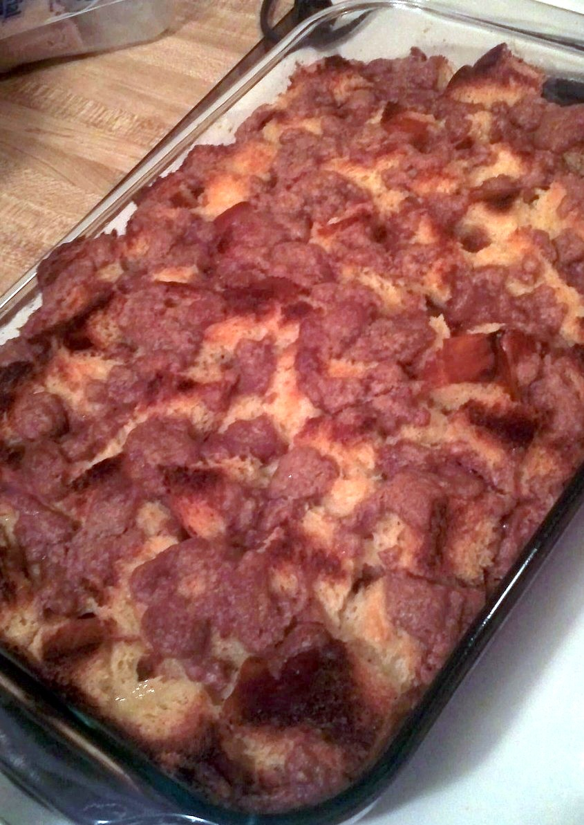 Bourbon Eggnog French Toast Casserole