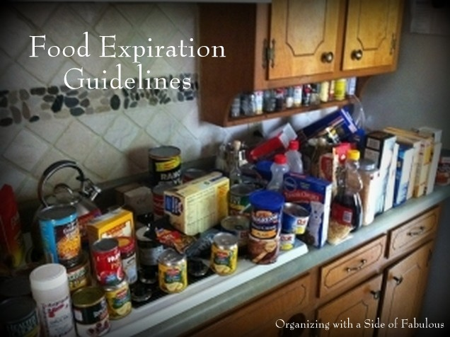 Food Expiration Guidelines - Organizing with a Side of Fabulous Blog