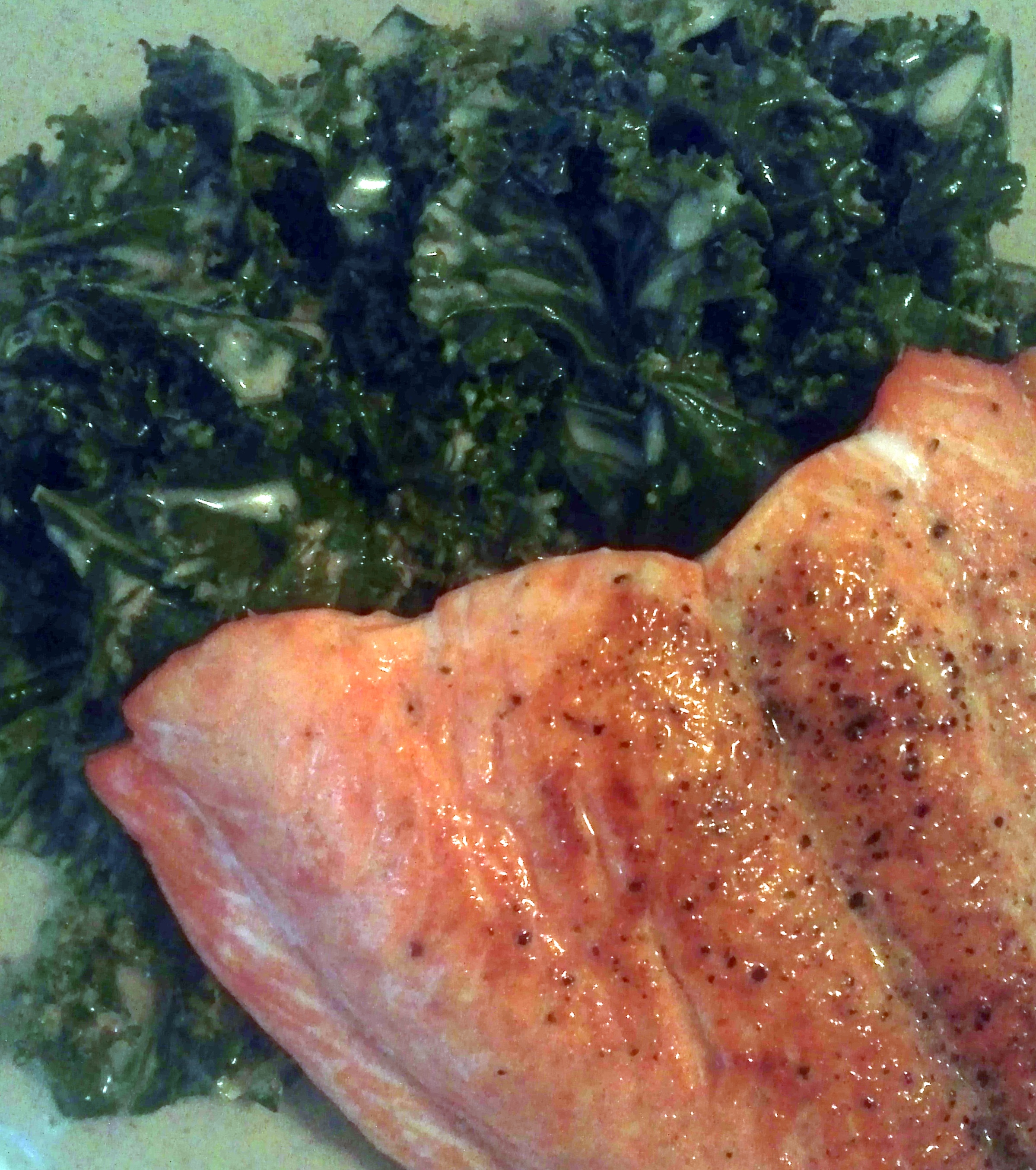 Creamed Kale w/Salmon - Organizing with a Side of Fabulous