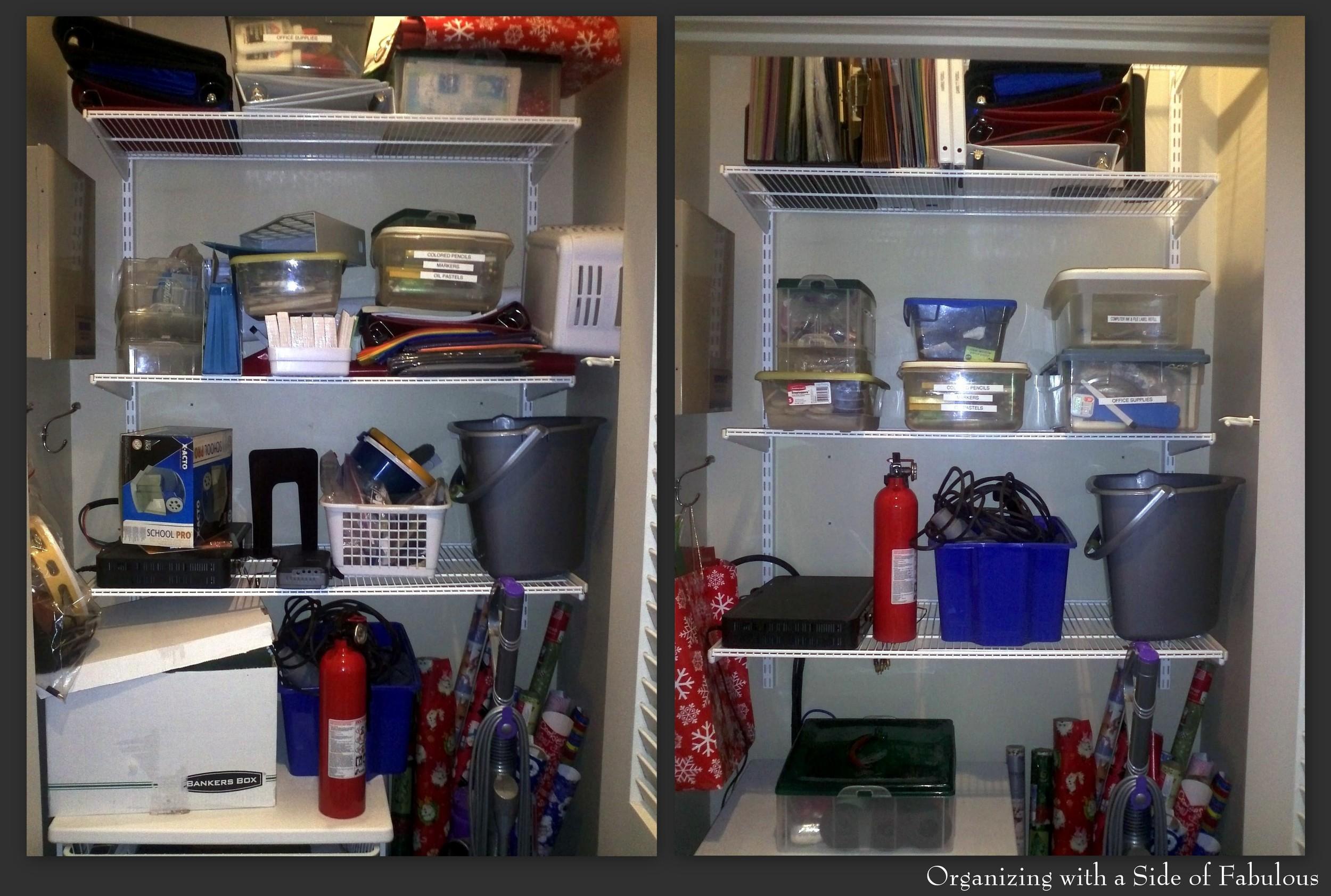 Utility-School Supplies Closet - Top