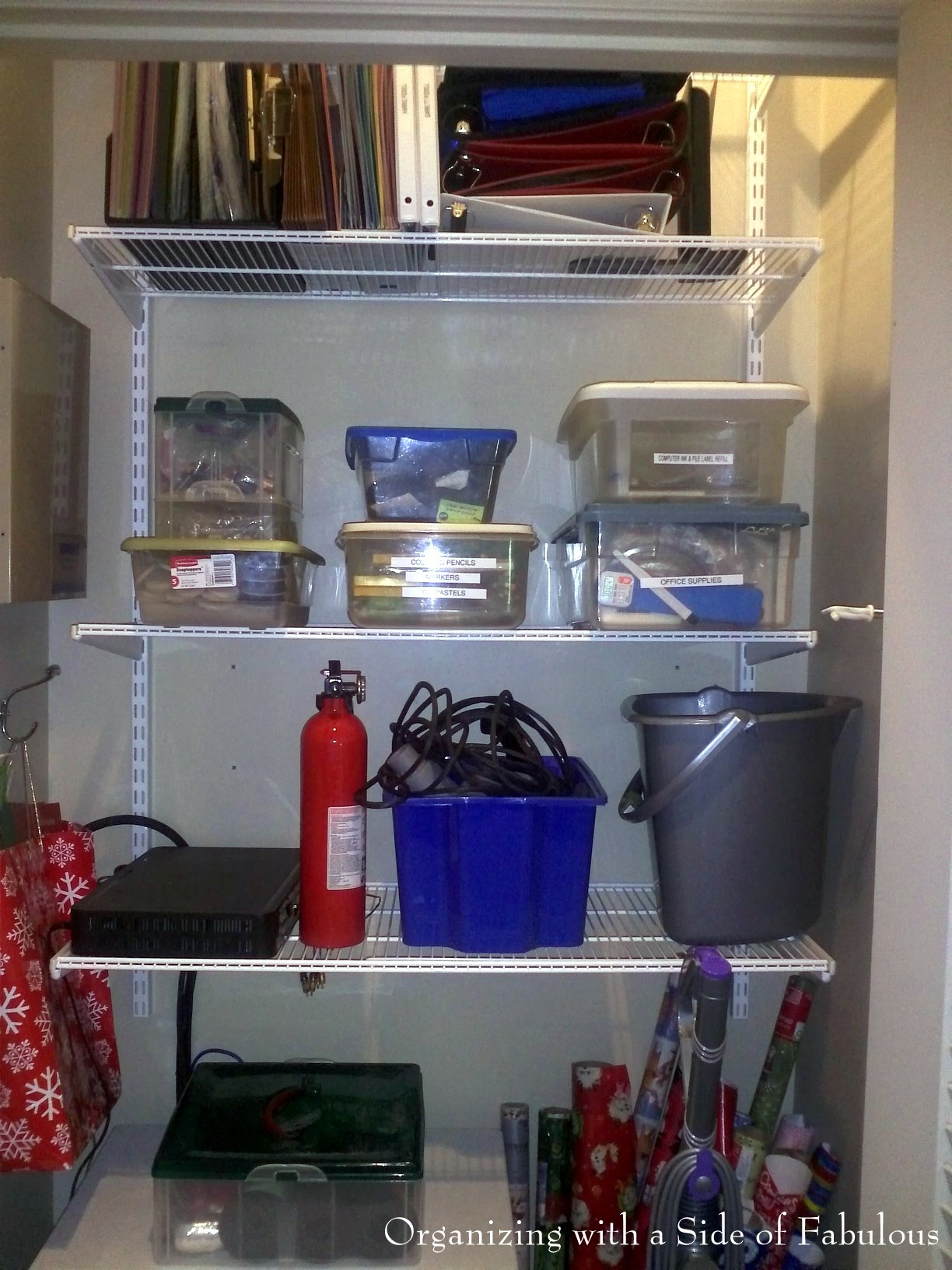 Supply Closet After