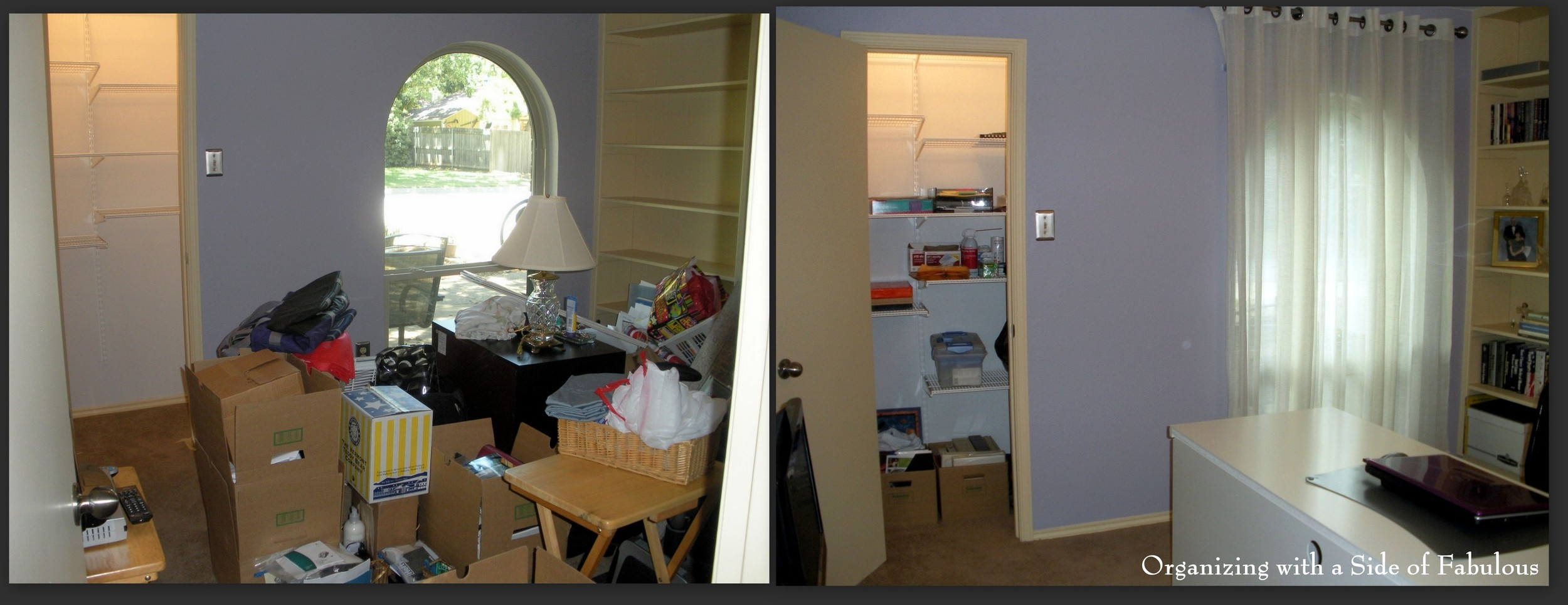 Junk Room to Home Office 2 - Organizing with a Side of Fabulous Blog