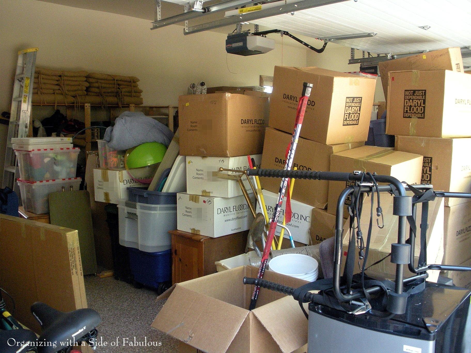 Garage Organiziation  Before - Organizing with a Side of Fabulous Blog