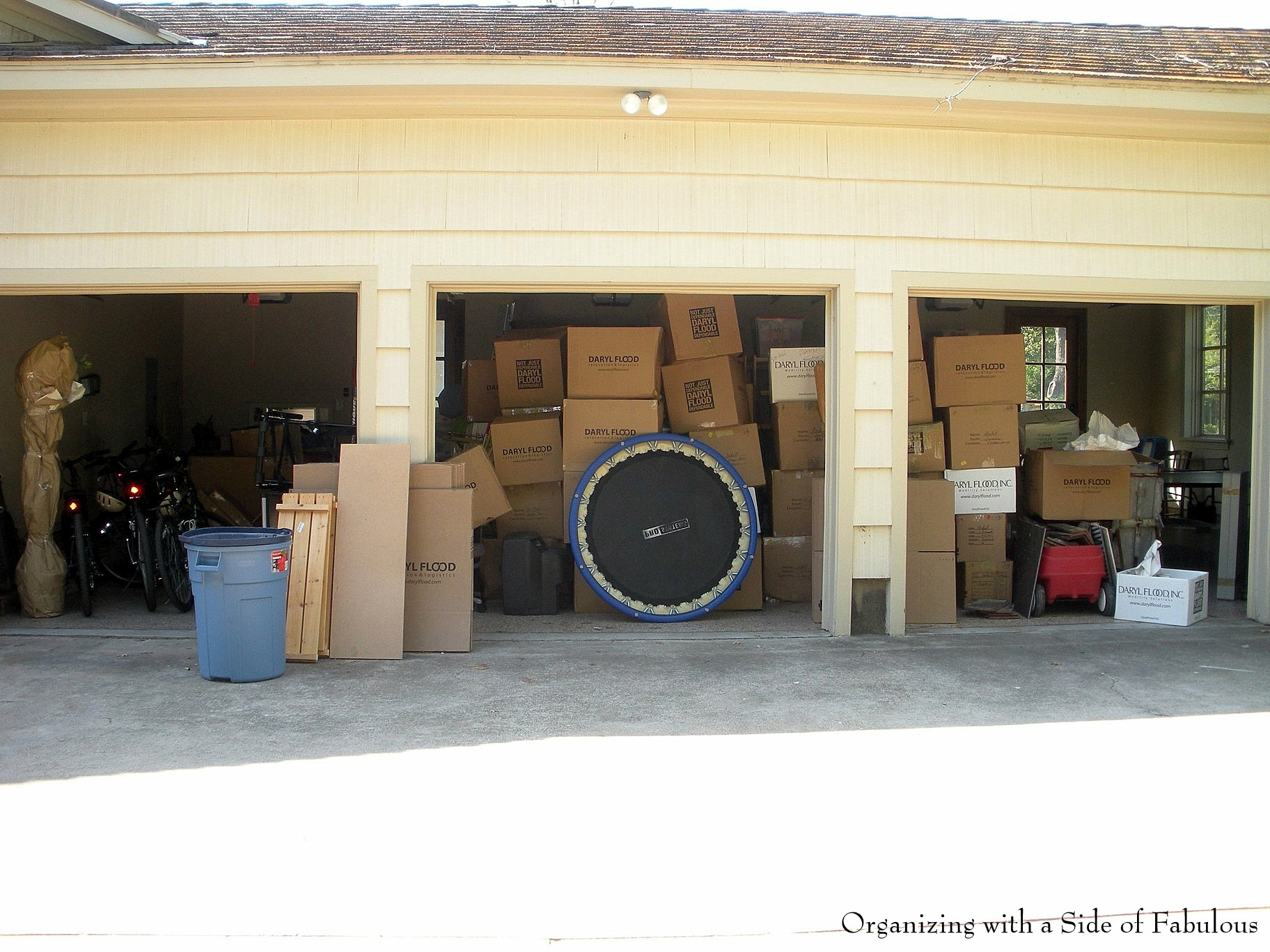 3-Car Garage Organization Before - Organizing with a Side of Fabulous Blog