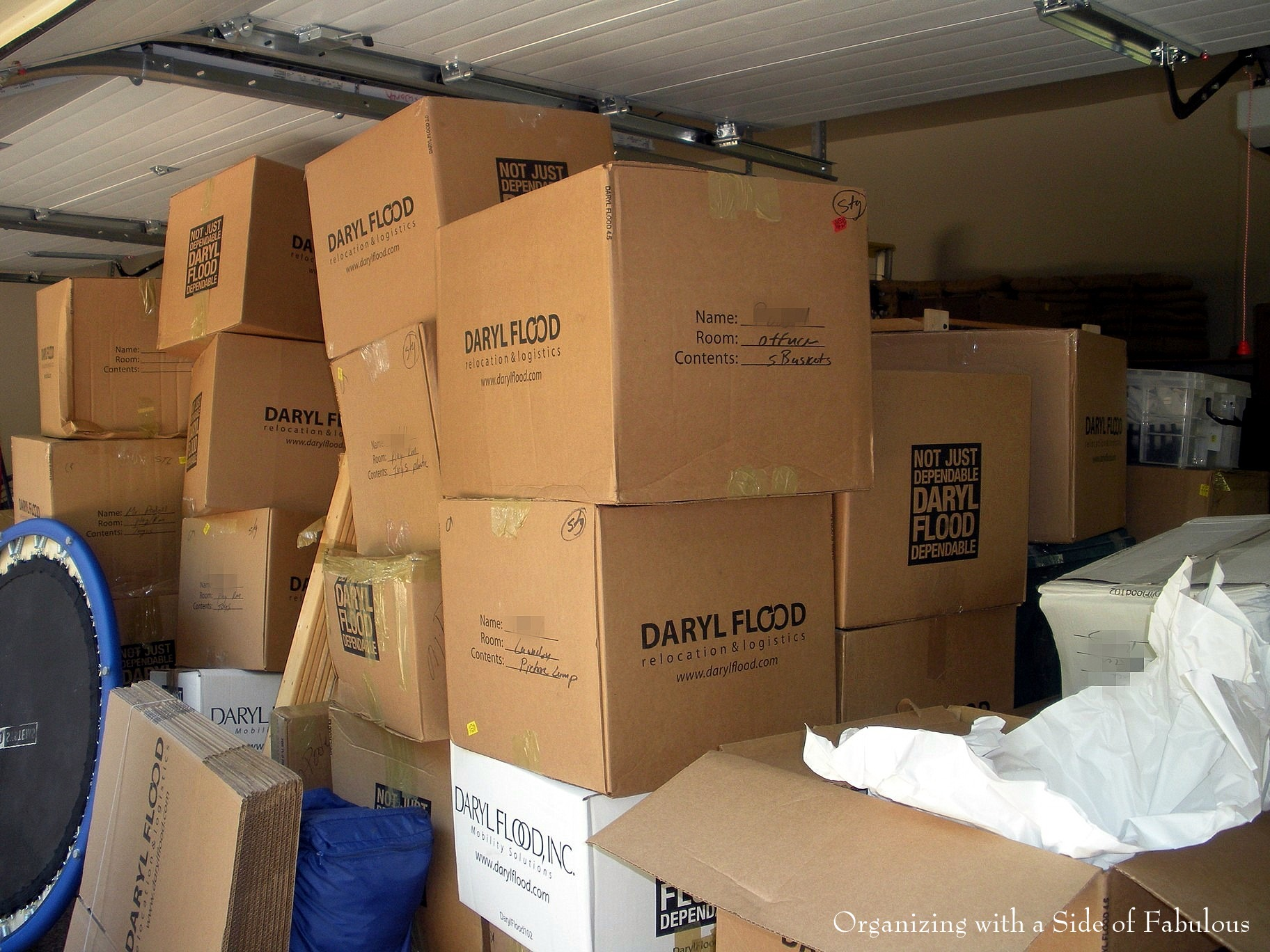 Garage Organization Before - Organizing with a Side of Fabulous Blog