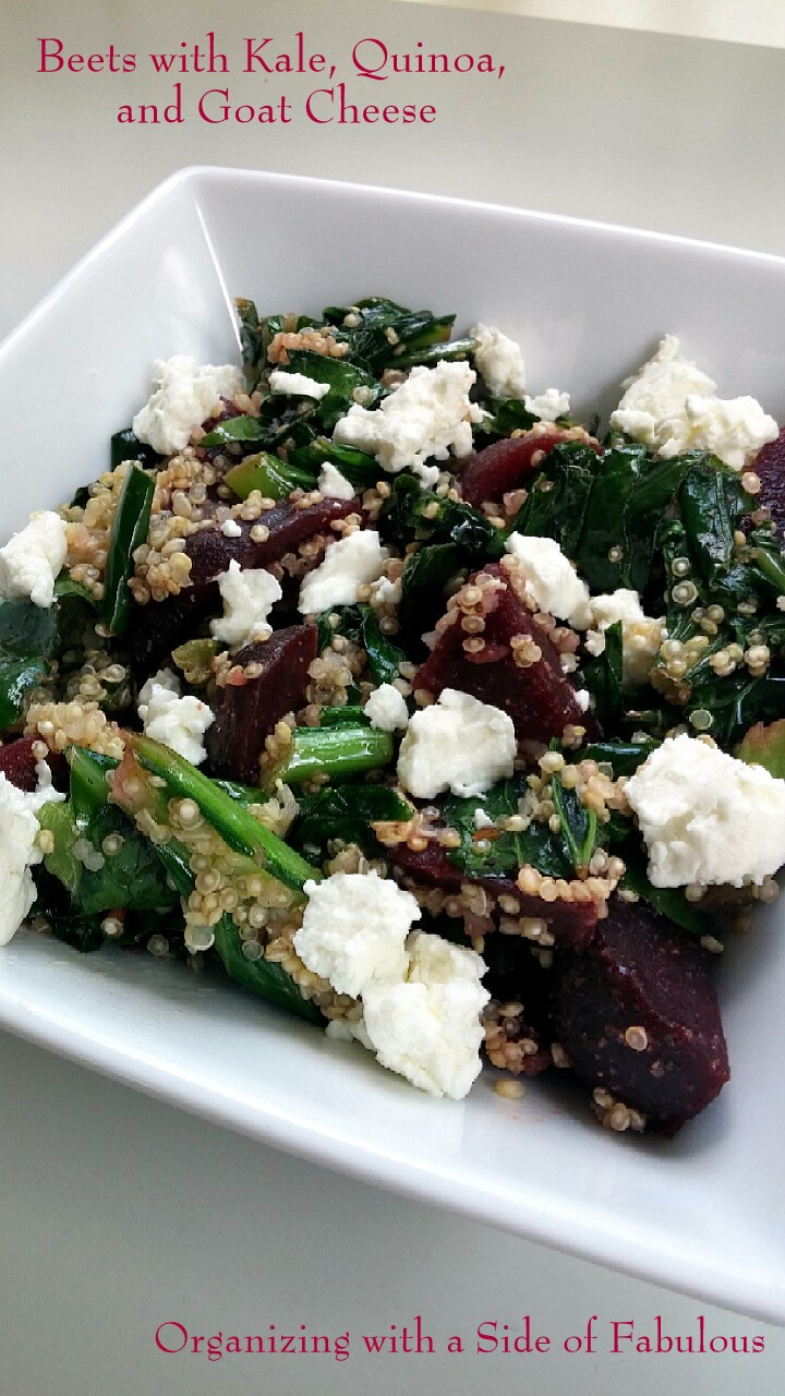 #Unprocessed Beets with Kale, Quinoa, and Goat Cheese - Organizing with a Side of Fabulous Blog