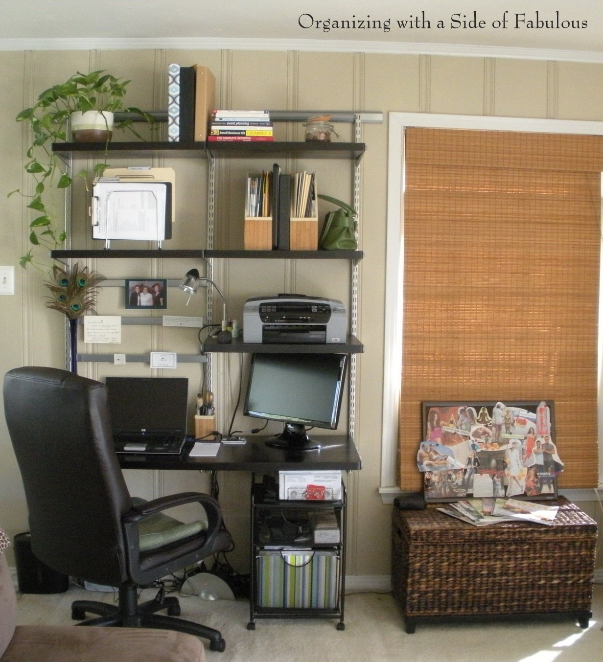 Evolution of a Desk - Organizing with a Side of Fabulous Blog